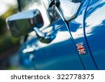 vintage car detail   side union ... | Shutterstock . vector #322778375