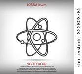 atom sign vector icon | Shutterstock .eps vector #322803785