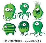 cartoon microbes and bacteria   Shutterstock .eps vector #322807151