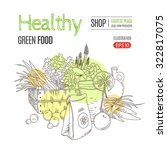 healthy eating vector concept... | Shutterstock .eps vector #322817075