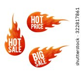 hot sale symbols. labels ... | Shutterstock .eps vector #322817861