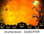 halloween background idea... | Shutterstock . vector #322819709