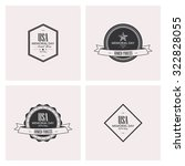 set of labels with text for... | Shutterstock .eps vector #322828055