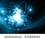 best internet concept. globe ...   Shutterstock . vector #322836401