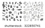 hand drawn collection of... | Shutterstock .eps vector #322850741