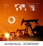 oil derrick infographic with... | Shutterstock .eps vector #322853369