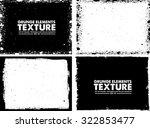 grunge frame texture set  ... | Shutterstock .eps vector #322853477