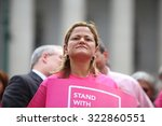 Small photo of NEW YORK CITY - SEPTEMBER 29 2015: Activists and directors of Planned Parenthood, NYC, gathered in Foley Square along with NYC first lady Chirlane McCray. NYCC speaker Melissa Mark-Viverito