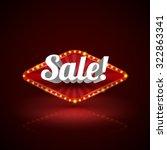 retro sale signboard. vector... | Shutterstock .eps vector #322863341