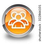group icon glossy orange round... | Shutterstock . vector #322866101