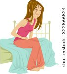 illustration of a teenage girl... | Shutterstock .eps vector #322866824