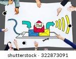 mail inbox message... | Shutterstock . vector #322873091