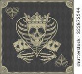 skull poker card  vector | Shutterstock .eps vector #322873544