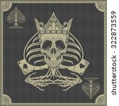 skull poker card  vector | Shutterstock .eps vector #322873559
