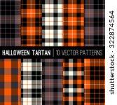 Halloween Tartan Plaid Patterns....