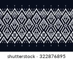 geometric ethnic pattern design ... | Shutterstock .eps vector #322876895
