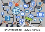 connecting internet online... | Shutterstock . vector #322878431