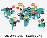 set of social people on world... | Shutterstock .eps vector #322881275