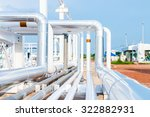 piping upstream process oil and ... | Shutterstock . vector #322882931