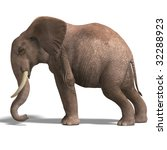 giant elephant. 3d render with... | Shutterstock . vector #32288923