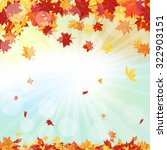 autumn  frame with falling ... | Shutterstock . vector #322903151