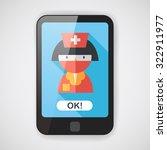 medicine nurses flat icon with...   Shutterstock .eps vector #322911977