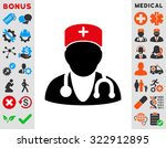 physician raster icon. style is ... | Shutterstock . vector #322912895