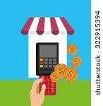 electronic commerce design ... | Shutterstock .eps vector #322915394