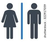 toilets vector icon. style is... | Shutterstock .eps vector #322917059