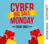 cyber monday design  vector... | Shutterstock .eps vector #322924877