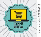 cyber monday design  vector... | Shutterstock .eps vector #322926119