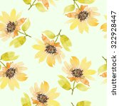 seamless flowers pattern.... | Shutterstock . vector #322928447