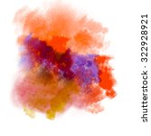 abstract watercolor painting...   Shutterstock . vector #322928921