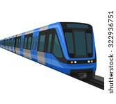 metro train | Shutterstock .eps vector #322936751