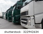 truck with long trailer ... | Shutterstock . vector #322942634