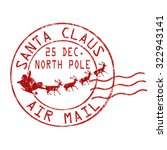 santa claus air mail grunge... | Shutterstock .eps vector #322943141