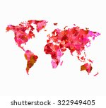 world map in red full of... | Shutterstock . vector #322949405