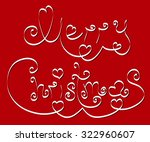 the text merry christmas with... | Shutterstock .eps vector #322960607