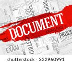 document word cloud  business... | Shutterstock .eps vector #322960991