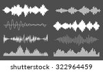 sound waves set  isolated ... | Shutterstock .eps vector #322964459