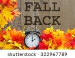 fall back time change  autumn... | Shutterstock . vector #322967789