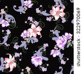 lily paisley pattern | Shutterstock .eps vector #322970069