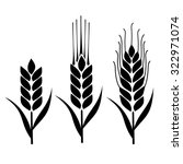wheat icon vector | Shutterstock .eps vector #322971074