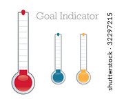 thermometer graphic showing... | Shutterstock .eps vector #32297215