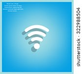 wi fi  web icon. vector design | Shutterstock .eps vector #322988504