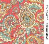 paisley seamless pattern....   Shutterstock .eps vector #322988711