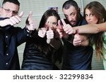 people group expressing... | Shutterstock . vector #32299834