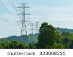 electric power transmission...   Shutterstock . vector #323008235