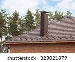 New Red Tiled Roof With Chimney
