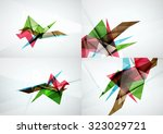 set of angle and straight lines ... | Shutterstock . vector #323029721